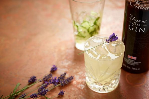 Lavender and Cucumber Old fasioned